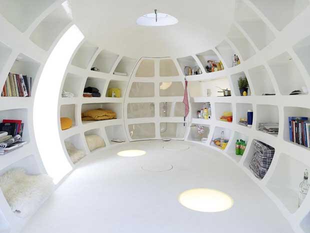 Яичный дом изнутри