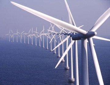ветряки в море
