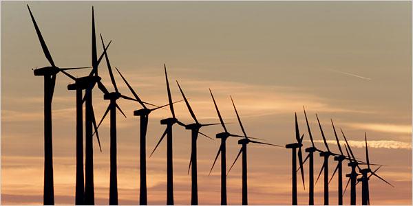 ветряки на рассвете