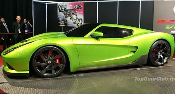 Зеленый суперкар