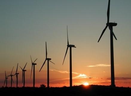 ветряки на закате