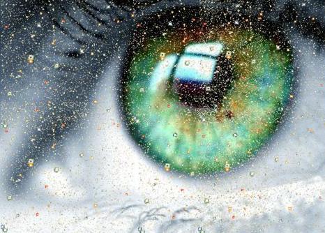 Задумчивые зеленые глаза