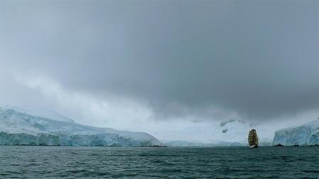 Антарктида под льдом - ландшафт