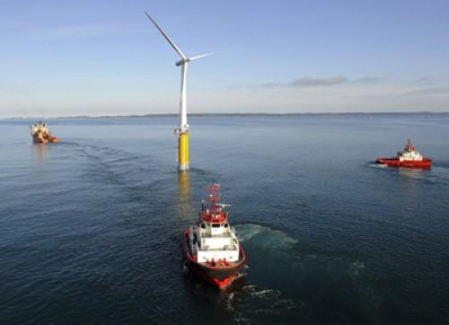 Норвегия. Первая в мире плавающая ветряная турбина