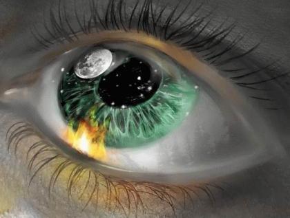 Космические зеленые глаза