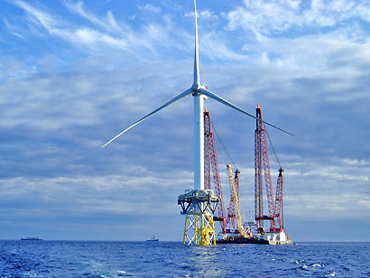 ветряная турбина в море