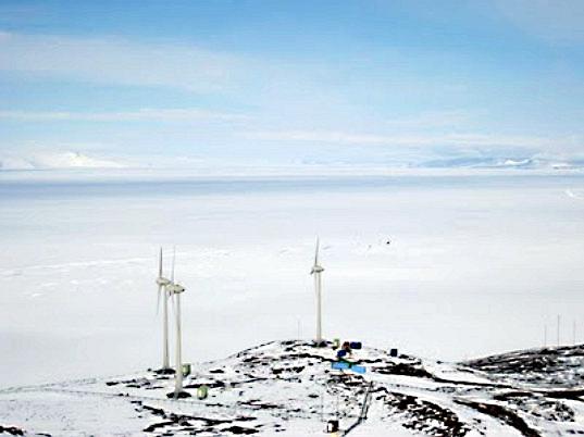 Ветряки в Антарктике