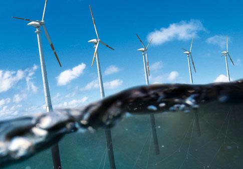 подводный снимок ветряков