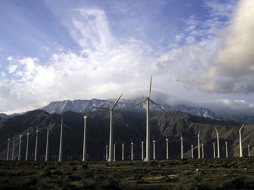 Калифорния. Ветряная ферма San Gorgonio Pass