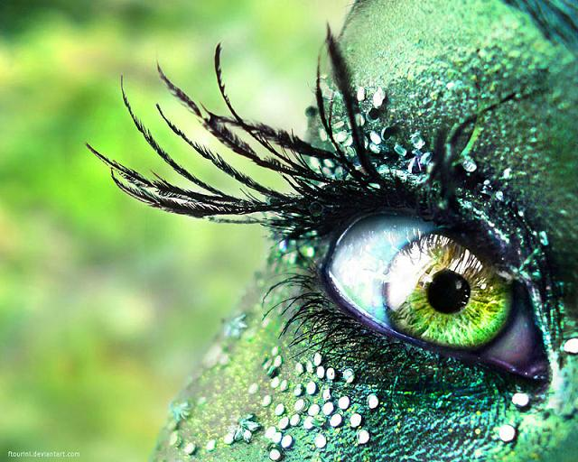 Зеленые глаза Жар птицы