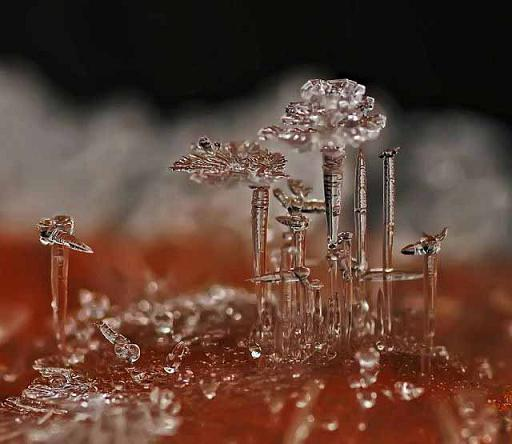 Микро ледяная скульптура