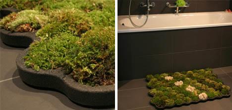 Зеленый коврик для ванны