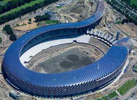 стадион на солнечной энергии