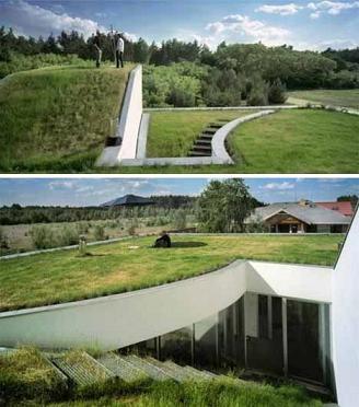 Современный зеленый дом