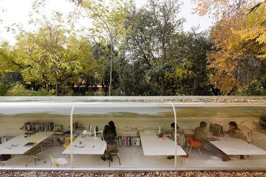 Уютное кафе под ветвями осеннего леса 2
