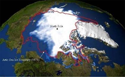 Изменение границ полярных льдов