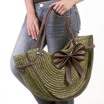 Пляжная сумка зеленая