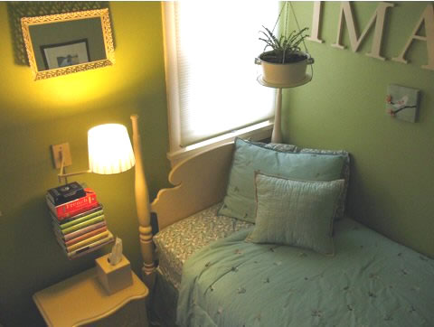Зеленая детская комната в интерьере