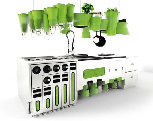 Зеленая кухня в дизайне помещений