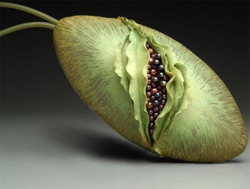 Зеленая сумка-фрукт