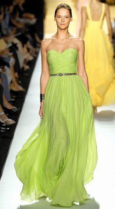Зеленое-платье